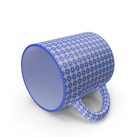 Printed Blue Cup On Floor PNG & PSD Images