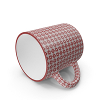 Printed Maroon Flower Cup on Floor PNG & PSD Images