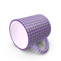 Printed Violet Cup on Floor PNG & PSD Images