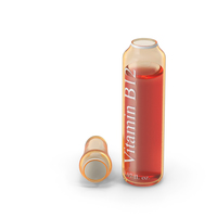 Vitamin B12 2ml Amber Ampoule Opened PNG & PSD Images