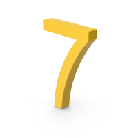 Number 7 Yellow PNG & PSD Images