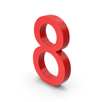 Number 8 Red PNG & PSD Images