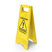Warning Cleaning In Progress Sign PNG & PSD Images