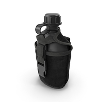 Water Bottle Canteen with Military Pouch PNG & PSD Images