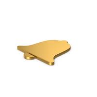 Gold Symbol Alarm / Notification PNG & PSD Images