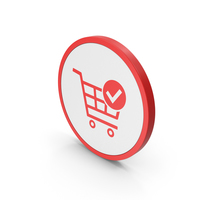 Icon Checkout Shopping Cart Red PNG & PSD Images