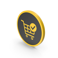 Icon Checkout Shopping Cart Yellow PNG & PSD Images