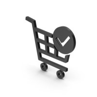 Symbol Checkout Shopping Cart Black PNG & PSD Images