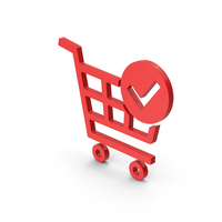 Symbol Checkout Shopping Cart Red PNG & PSD Images
