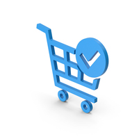 Symbol Checkout Shopping Cart Blue PNG & PSD Images