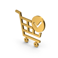 Symbol Checkout Shopping Cart Gold PNG & PSD Images