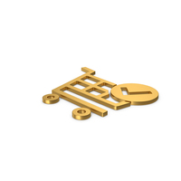Gold Symbol Checkout Shopping Cart PNG & PSD Images