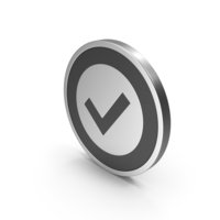 Silver Icon Checkmark PNG & PSD Images
