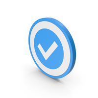 Icon Checkmark Blue PNG & PSD Images