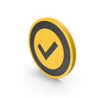 Icon Checkmark Yellow PNG & PSD Images