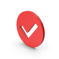 Symbol Checkmark Red PNG & PSD Images