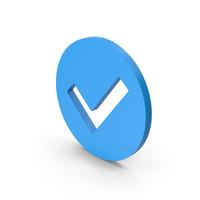 Symbol Checkmark Blue PNG & PSD Images