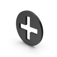 Symbol Cross / Plus Black PNG & PSD Images
