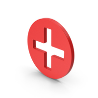 Symbol Cross / Plus Red PNG & PSD Images