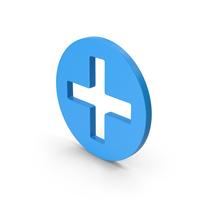 Symbol Cross / Plus Blue PNG & PSD Images