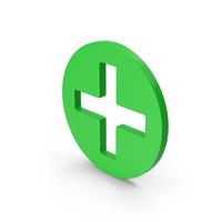 Symbol Cross / Plus Green PNG & PSD Images