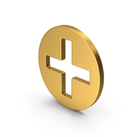 Symbol Cross / Plus Gold PNG & PSD Images
