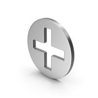 Symbol Cross / Plus Silver PNG & PSD Images