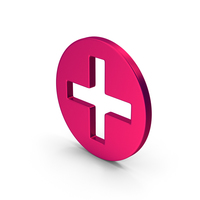 Symbol Cross / Plus Metallic PNG & PSD Images