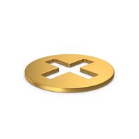 Gold Symbol Hospital Cross PNG & PSD Images