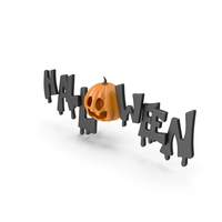 Halloween Symbol with Pumpkin Face PNG & PSD Images