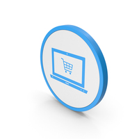 Icon Online Shopping Blue PNG & PSD Images