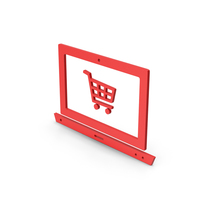 Symbol Online Shopping Red PNG & PSD Images