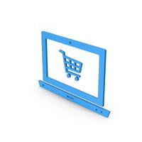 Symbol Online Shopping Blue PNG & PSD Images