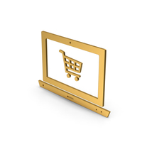 Symbol Online Shopping Gold PNG & PSD Images