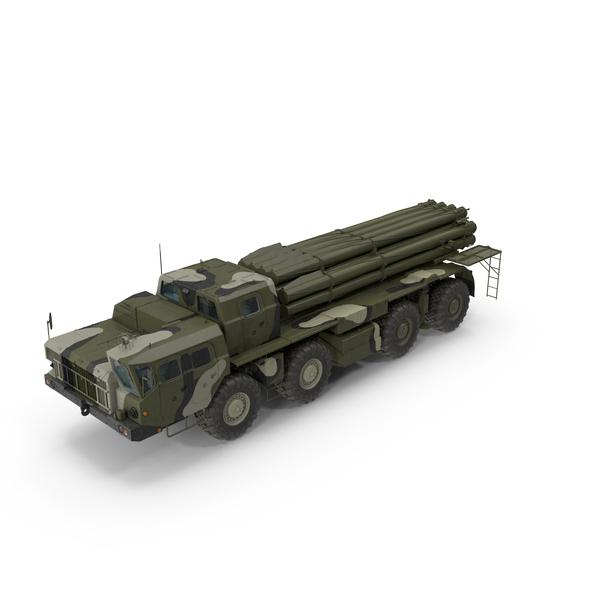 BM 30 Smerch Rocket Launcher Camouflage PNG & PSD Images