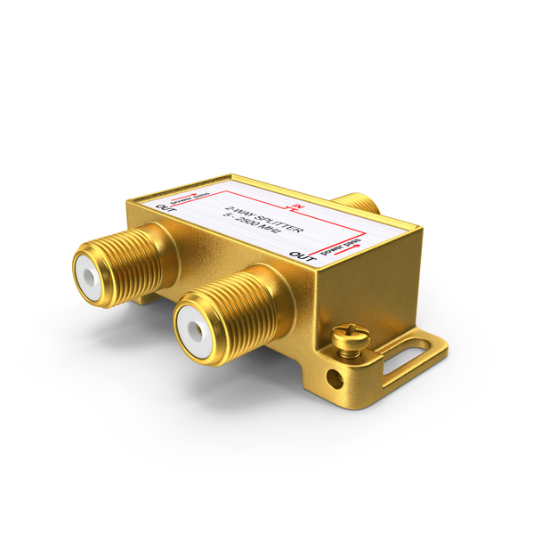 CATV Coaxial Cable 2 Way Splitter PNG & PSD Images