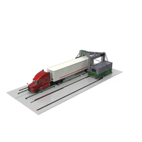 Gantry Inspection System with Semi Trailer Truck PNG & PSD Images