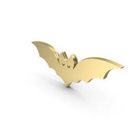 Golden Happy Halloween Bat PNG & PSD Images