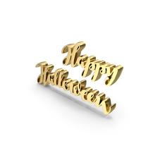 Golden Happy Halloween PNG & PSD Images