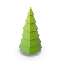Winter Tree Lowpoly PNG & PSD Images