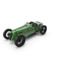 1930 Austin Seven Special Monoposto Green PNG & PSD Images