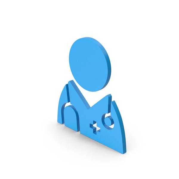 Symbol Doctor Blue PNG & PSD Images