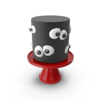 Halloween Black Cake with Eyes Decor PNG & PSD Images