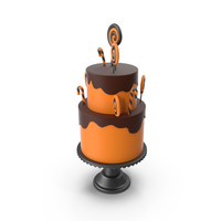 Halloween Cake with Candy Decor PNG & PSD Images