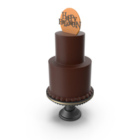 Halloween Cake with Happy Halloween Topper PNG & PSD Images