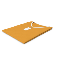 Female V Neck Folded With Tag White and Orange PNG & PSD Images