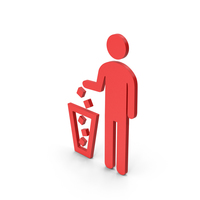 Symbol Recycle Bin Red PNG & PSD Images