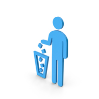 Symbol Recycle Bin Blue PNG & PSD Images