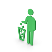 Symbol Recycle Bin Green PNG & PSD Images