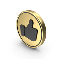 Satisfaction Like Thumps Up Coin PNG & PSD Images